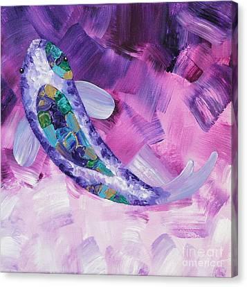 Purple Koi Canvas Print