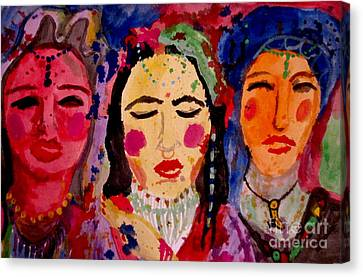 3 Queens Of Color Canvas Print