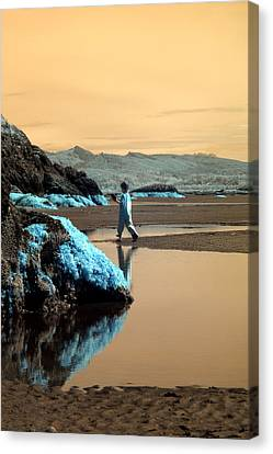 Canvas Print featuring the photograph Quiet Beach by Rebecca Parker