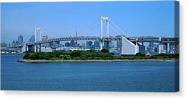 Rainbow Bridge Over Tokyo Bay, Tokyo Canvas Print by Panoramic Images