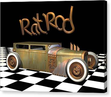 Rat Rod Sedan Canvas Print by Stuart Swartz