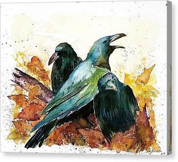 3 Ravens Canvas Print