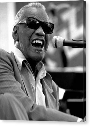 Musicians Canvas Print - Ray Charles by Retro Images Archive