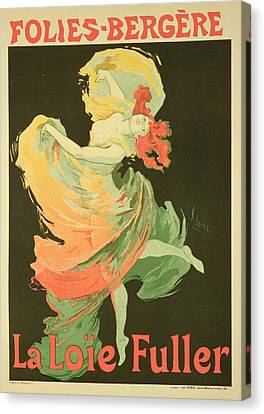 Reproduction Of A Poster Advertising Canvas Print by Jules Cheret