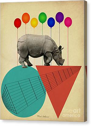 Graphic Canvas Print - Rhino by Mark Ashkenazi
