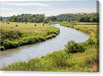 River In The Nebraska Sandhills Canvas Print