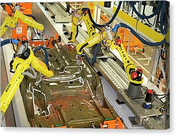 Robotic Car Production Line Canvas Print by Jim West