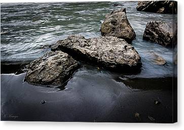 Rocks In The River Canvas Print
