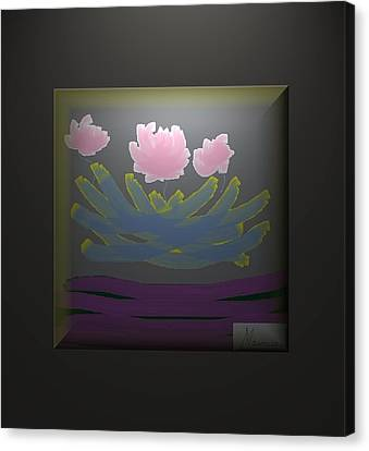 3 Roses Canvas Print by Ines Garay-Colomba