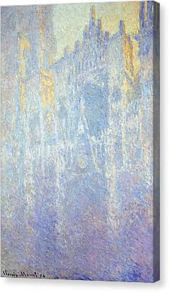 Rouen Cathedral Canvas Print by Claude Monet