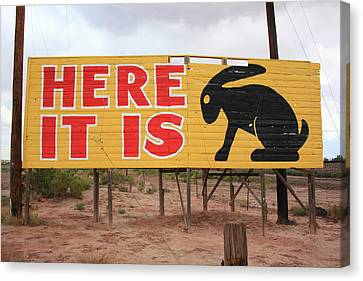Route 66 - Jack Rabbit Trading Post Canvas Print
