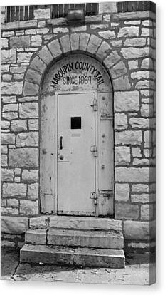 Route 66 - Macoupin County Jail Canvas Print by Frank Romeo