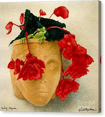 Ruby Begonia Canvas Print by Will Bullas