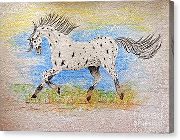 Running Free Canvas Print by Debbie Portwood
