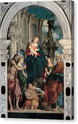Lute Canvas Print - Sacchis Giovanni Antonio De Known As Il by Everett