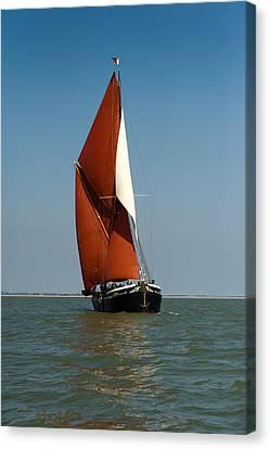 Sailing Barge Canvas Print by Gary Eason