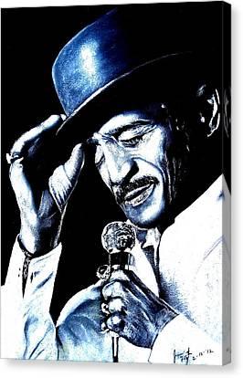 Sammy Davis Jr Canvas Print by Jim Fitzpatrick
