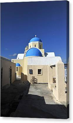 Santorini Greece Canvas Print by John Jacquemain