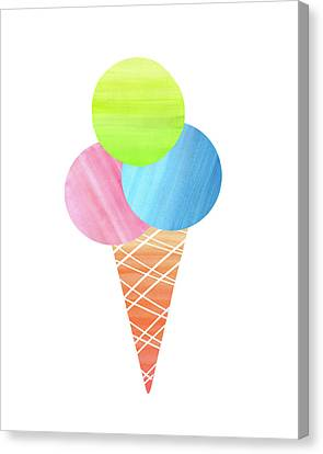 3 Scoops Canvas Print