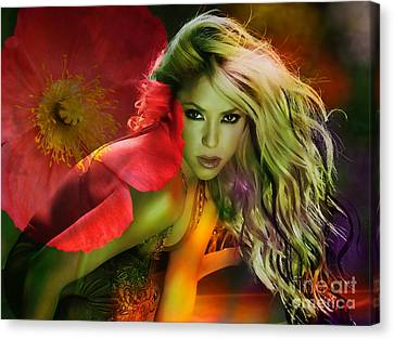 Shakira Canvas Print by Marvin Blaine