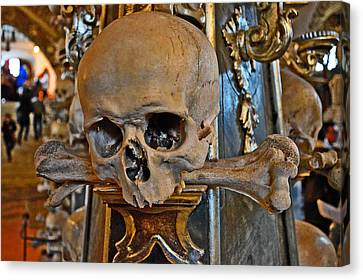 Skull And Crossbones. Canvas Print by Andy Za