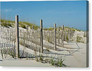 Snow Fence Canvas Print by Denis Lemay