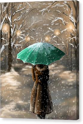 Frosty Canvas Print - Snow by Veronica Minozzi