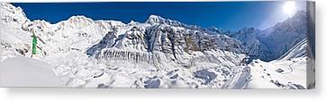 Snowcapped Mountain, Annapurna Base Canvas Print