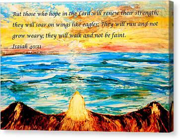 Soar On Wings Like Eagles... Canvas Print