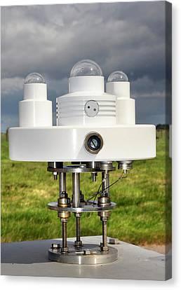 Solar Radiation Monitoring Canvas Print by Public Health England