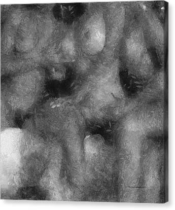 3 Some Abstract Erotica Bw Canvas Print by Thomas Woolworth