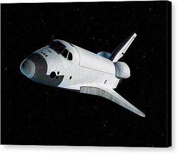 Space Shuttle In Space Canvas Print