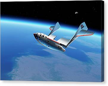 Spaceshipone In Orbit Canvas Print