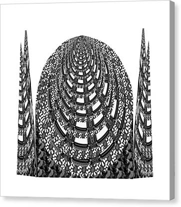Sparkle Bnw White Pyramid Dome Ancient Arch Architecture Formation Obtained During Deep Meditation W Canvas Print by Navin Joshi