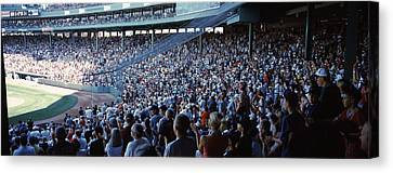 Spectators Watching A Baseball Match Canvas Print