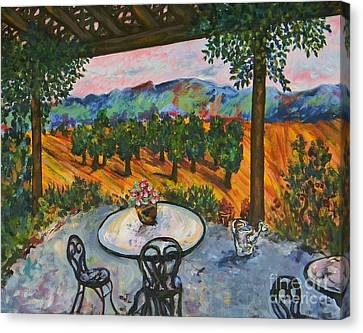 Spot To Wine And Dine Canvas Print by Emily Michaud