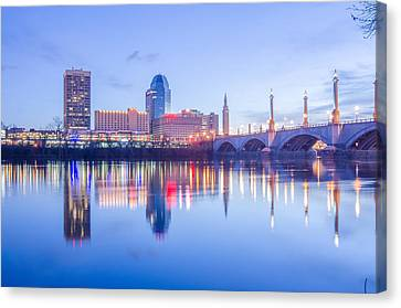 Springfield Massachusetts City Skyline Early Morning Canvas Print