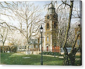 St Johns Church Wapping London Canvas Print by Mackenzie Moulton