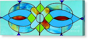 Canvas Print featuring the photograph Stained Glass Window by Janette Boyd