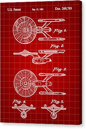 Star Trek Uss Enterprise Toy Patent 1981 - Red Canvas Print by Stephen Younts