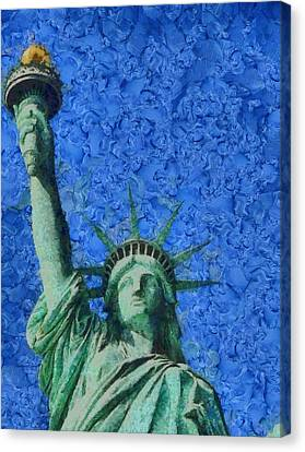 Statue Of Liberty Canvas Print by Dan Sproul