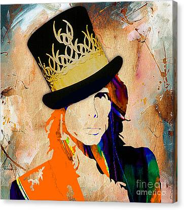 Rock Music Canvas Print - Steven Tyler Collection by Marvin Blaine