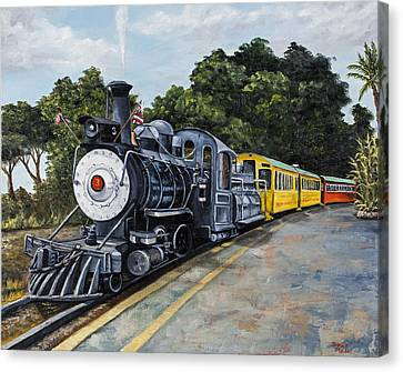 Sugar Cane Train Canvas Print by Darice Machel McGuire