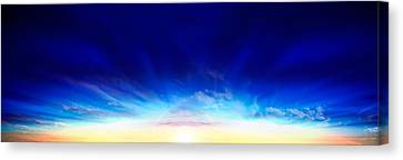 Computer Graphics Canvas Print - Sunset Over The Sea by Panoramic Images