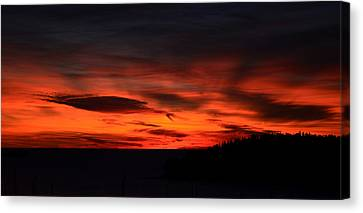 Sunset Rovinj Canvas Print by Barbara Walsh