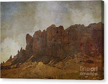 Crosswalk Canvas Print - Superstition Mountains by Beverly Guilliams