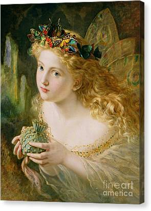 Blonde Canvas Print - Take The Fair Face Of Woman by Sophie Anderson