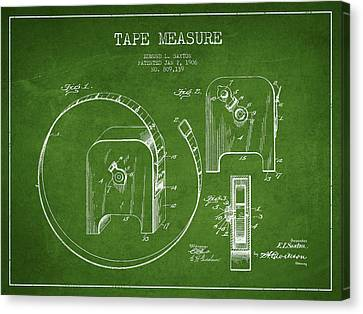 Tape Measure Patent Drawing From 1906 Canvas Print