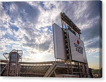 Target Field Sunset Canvas Print by Tom Gort