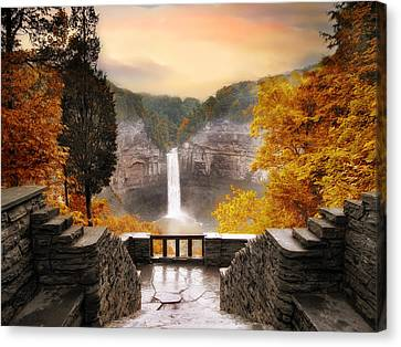 Taughannock Falls Canvas Print by Jessica Jenney